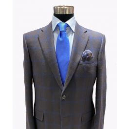 Canali Sport Coat And Tie With Eton Shirt And Pocket Square