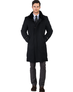 Black Cashmere with Mink Lining