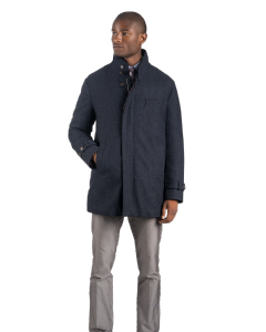 British Blue Herringbone Carcoat