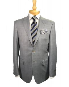 Canali suit and tie, Eton shirt and Edward Armah pocket round