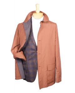 Luciano Barbera nylon raincoat and Boglioli sport coat