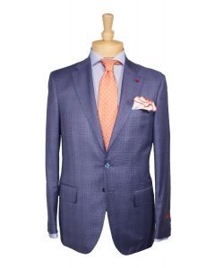 2 button wool plaid suit and tie by Isaia, Eton cotton dress shirt and Edward Armah round pockets