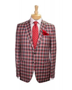 2 button wool sport coat and tie by Isaia, Eton cotton dress shirt and Robert Talbott silk pocket square.