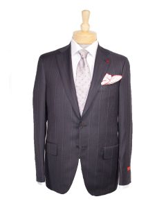 2 button wool stripe suit and tie by Isaia, Eton cotton dress shirt and Paolo Albizzati tie.