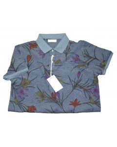 Gran Sasso Print Cotton Polo
