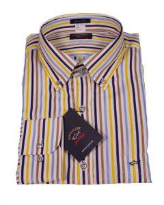 Paul & Shark Multiple Colored Striped Cotton Shirt