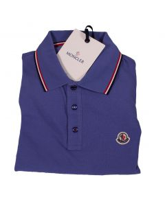 Moncler Blue Cotton Polo