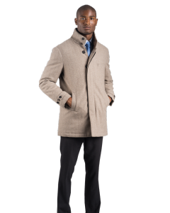 Sandy Herringbone Carcoat