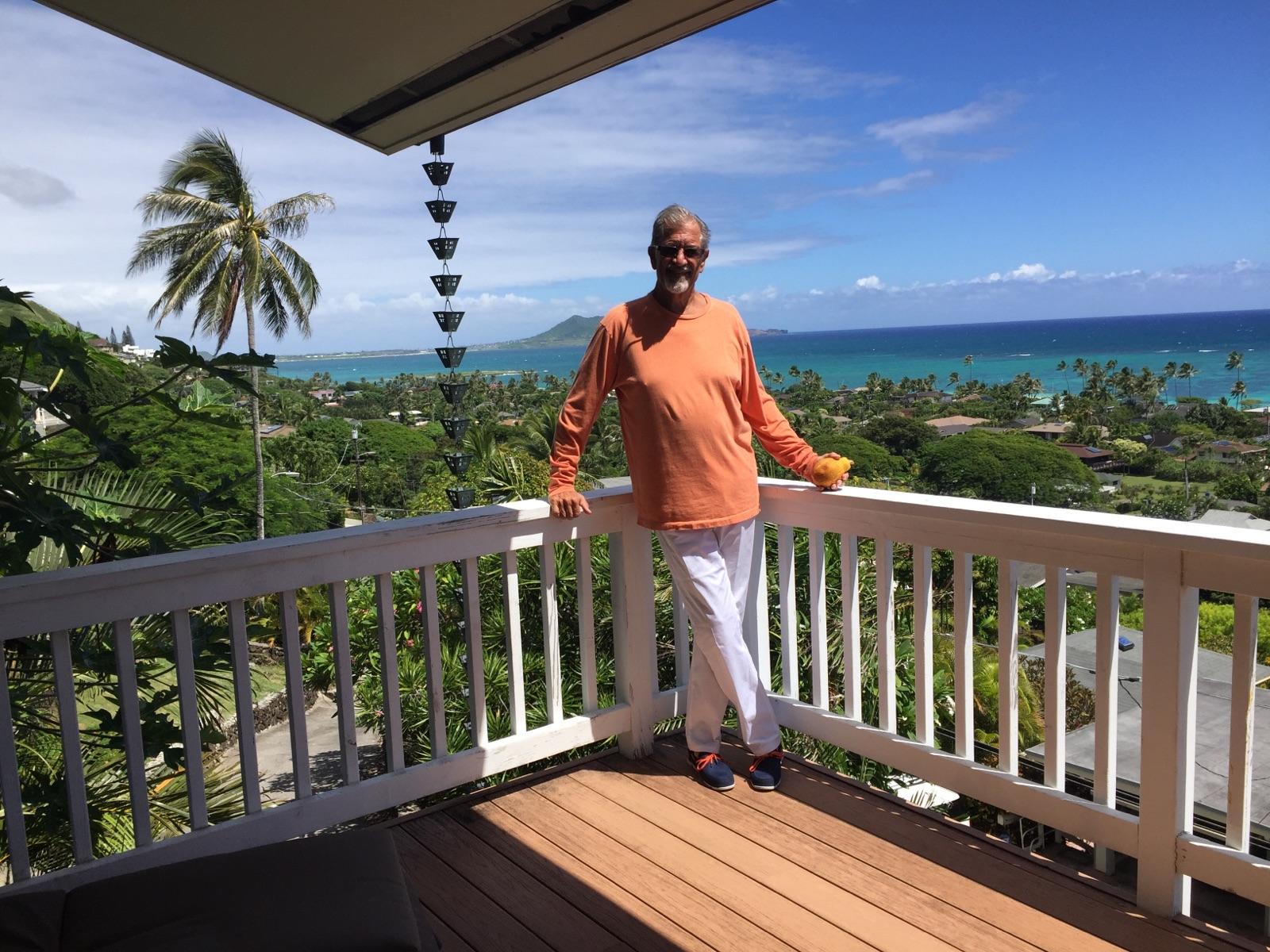 My casual look overlooking the Kailua beach.