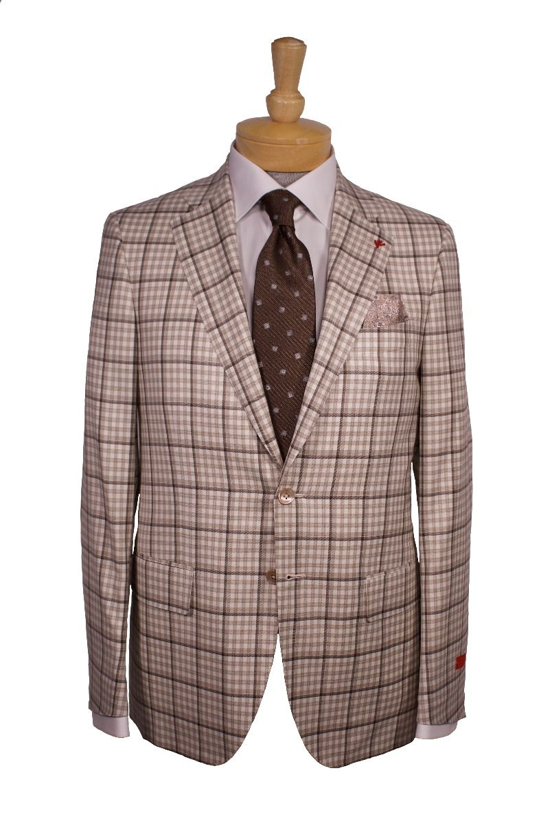 2 Button Wool Sport Coat And Tie By Isaia Eton Cotton Dress Shirt