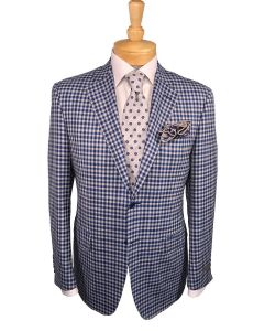 Canali suit and tie, Eton dress shirt and Edward Armah pocket round