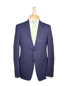 Etro suit and green tie with Eton dress shirt