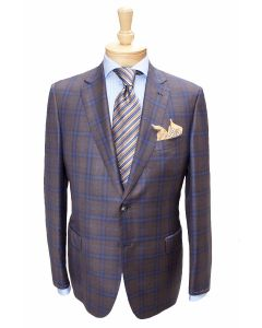 Brioni brown sport coat and tie, Eton dress shirt