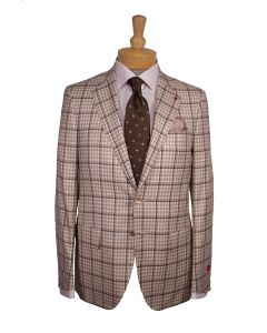 2 button wool sport coat and tie by Isaia, Eton cotton dress shirt and Paolo Albizzati pocket square
