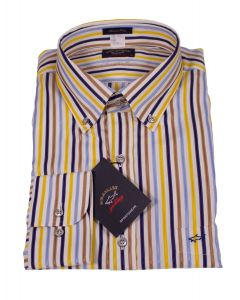 Paul & Shark Multiple Colored Striped Cotton Shirt