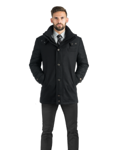 Black City Active Hooded Parka